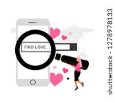 find love. online dating.... | Shutterstock .eps vector #1278978133