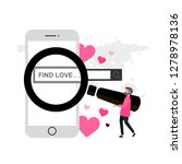 find love. online dating.... | Shutterstock .eps vector #1278978136