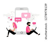 online dating. virtual... | Shutterstock .eps vector #1278978139