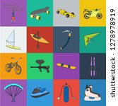 extreme sport cartoon icons in... | Shutterstock .eps vector #1278978919