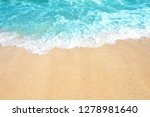 soft wave of ocean on the sandy ... | Shutterstock . vector #1278981640