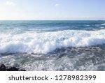 Huge Waves Of The Mediterranea...