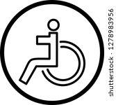 vector handicapped icon    Shutterstock .eps vector #1278983956
