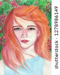 Watercolor Painted Portrait Of...