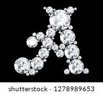 diamond letters with gemstones... | Shutterstock . vector #1278989653