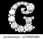 diamond letters with gemstones... | Shutterstock . vector #1278989680