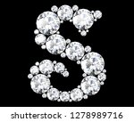 diamond letters with gemstones... | Shutterstock . vector #1278989716