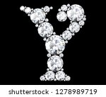 diamond letters with gemstones... | Shutterstock . vector #1278989719