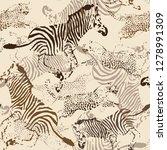 leopard pattern animal pattern... | Shutterstock .eps vector #1278991309