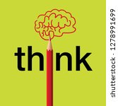 concept of thinking  with the... | Shutterstock .eps vector #1278991699