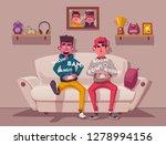friends is gaming. nerds room... | Shutterstock .eps vector #1278994156
