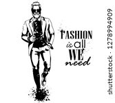 man model dressed in pants ... | Shutterstock . vector #1278994909