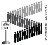 unemployed people queuing at a...   Shutterstock .eps vector #127899758