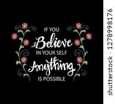 if you believe in yourself... | Shutterstock .eps vector #1278998176