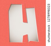 letter cut out on a cardboard.... | Shutterstock .eps vector #1278998323