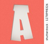 letter cut out on a cardboard.... | Shutterstock .eps vector #1278998326