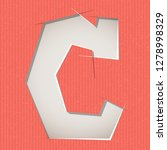 letter cut out on a cardboard.... | Shutterstock .eps vector #1278998329