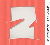 letter cut out on a cardboard.... | Shutterstock .eps vector #1278998350