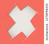 letter cut out on a cardboard.... | Shutterstock .eps vector #1278998353