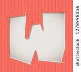 letter cut out on a cardboard.... | Shutterstock .eps vector #1278998356