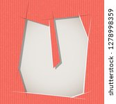 letter cut out on a cardboard.... | Shutterstock .eps vector #1278998359