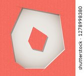 letter cut out on a cardboard.... | Shutterstock .eps vector #1278998380