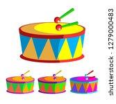 drum vector. children toy.... | Shutterstock .eps vector #1279000483