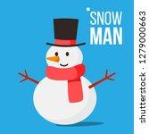 snow man vector. winter fun... | Shutterstock .eps vector #1279000663