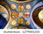 fragments of frescoes  wall...   Shutterstock . vector #1279001233