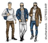 man models  sketch  autumn... | Shutterstock . vector #1279001449