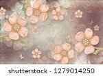 3d wallpaper design background...   Shutterstock . vector #1279014250