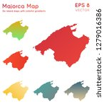 map of majorca with beautiful... | Shutterstock .eps vector #1279016386