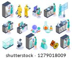 microbiology isolated isometric ... | Shutterstock .eps vector #1279018009