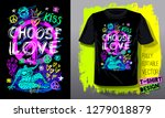 peace choose love. trendy t... | Shutterstock .eps vector #1279018879