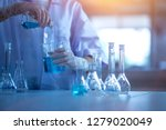 formulating the chemical for... | Shutterstock . vector #1279020049