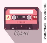 audio cassette retro vector... | Shutterstock .eps vector #1279022203