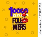 follower banner comic text pop... | Shutterstock .eps vector #1279029256