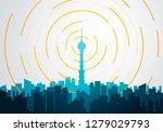vector illustration flat style... | Shutterstock .eps vector #1279029793