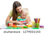 young woman playing with her...   Shutterstock . vector #1279031143