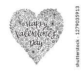 valentine's day card. vector...   Shutterstock .eps vector #1279035913