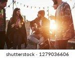 girl is enchanted. guitarist... | Shutterstock . vector #1279036606