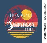 summer time in long beach... | Shutterstock .eps vector #1279038850