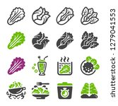 lettuce icon set vector and... | Shutterstock .eps vector #1279041553