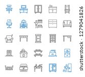 furniture icons set. collection ... | Shutterstock .eps vector #1279041826