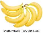 ripe yellow bananas isolated on ... | Shutterstock . vector #1279051633