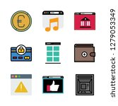 banking icon set. vector set... | Shutterstock .eps vector #1279053349