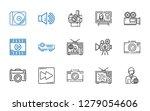 multimedia icons set.... | Shutterstock .eps vector #1279054606