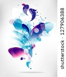 abstract  background with... | Shutterstock .eps vector #127906388