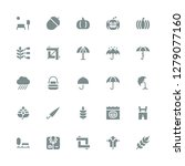autumn icon set. collection of... | Shutterstock .eps vector #1279077160