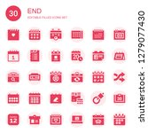 end icon set. collection of 30...